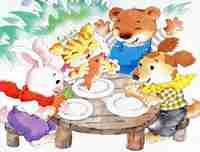 托班艺术活动《小熊请客》萌发对动物的喜爱